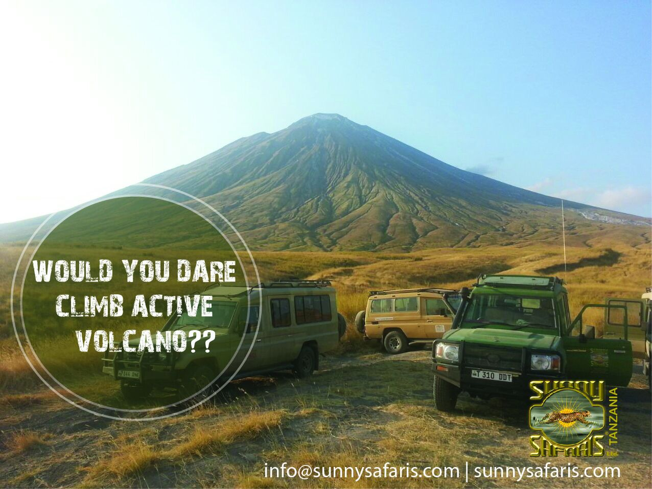 Climb an active volcano - with Sunny Safaris in Tanzania